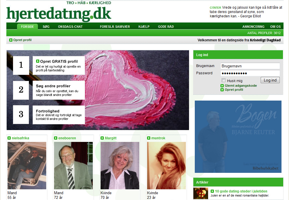 Søg gratis dating profiler